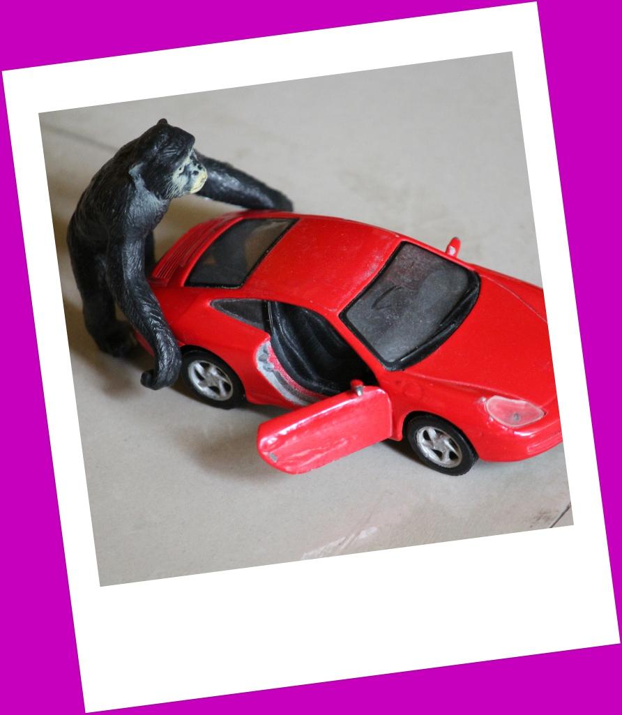 King Kong attacking a car!